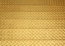 Gold color steel diamond plate Royalty Free Stock Photography