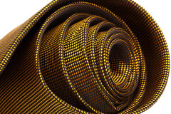 Gold color tie Royalty Free Stock Image