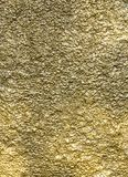 Gold Color Wall Texture Stock Photography