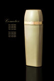 Gold colored blank cosmetic container Stock Photography