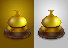 Gold colored call bell -  Stock Photos