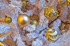 Gold decorations for your gold Christmas holidays Royalty Free Stock Image