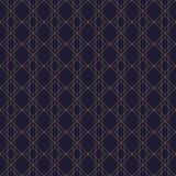Gold colored geometric pattern. Luxury seamless fabric print.  Royalty Free Stock Photos