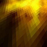 Gold colored mosaic Stock Images