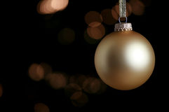 Gold colored ornament Royalty Free Stock Images