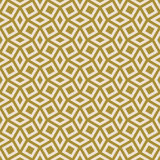 Gold colored pattern of squares and rhombuses Stock Images