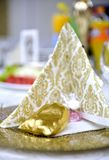Gold colored wedding gift bag,shallow dof. Gold colored wedding gift bag ,shallow dof ,image of a stock image