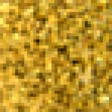 Gold colors pixel background. Stock Image
