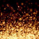 Gold abstract light background. Gold colour bokeh abstract light background. Illustration Royalty Free Stock Photography