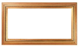 Gold Coloured Picture Frame. On an isolated white background Royalty Free Stock Photography