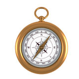 Gold compass. On white vector backgrond Stock Photos