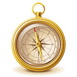 Gold compass royalty free illustration