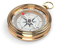 Gold compass Royalty Free Stock Images