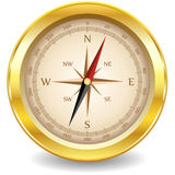 Gold compass Royalty Free Stock Photo