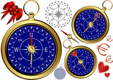 Gold Compass For Business. Stock Images