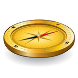 Gold compass icon Stock Photo