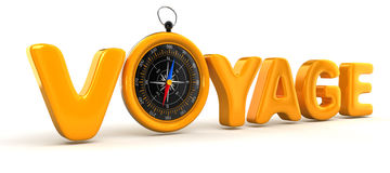 Gold Compass Voyage Royalty Free Stock Photography