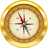 Gold compass Stock Image