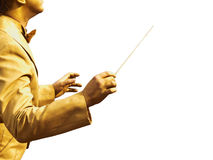 Gold conductor's hands Royalty Free Stock Photography