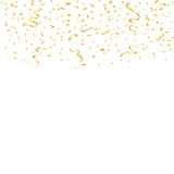 Gold confetti background Stock Images
