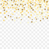 Gold confetti background stock illustration