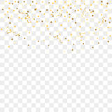 Gold confetti background Stock Photo