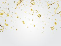 Gold confetti Celebration background. Eps.10 Royalty Free Stock Image