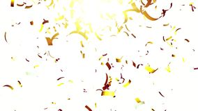 Gold confetti. With flare on white background royalty free illustration