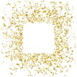 Gold confetti frame design, holiday banner, vector illustration. Gold confetti ribbons frame design, holiday banner, vector illustration royalty free illustration