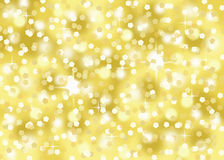 Gold confetti glitter holiday festive celebration abstract bokeh background Royalty Free Stock Photos