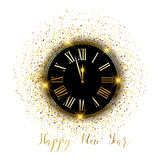 Gold confetti Happy New Year background Royalty Free Stock Photography