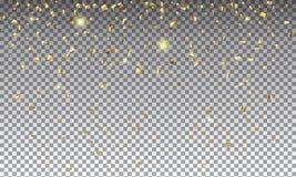 Gold confetti Stock Photography