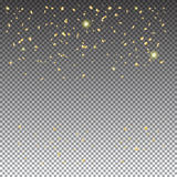 Gold confetti Royalty Free Stock Images