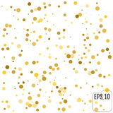 Gold confetti rain festive holiday background. Vector golden pap Royalty Free Stock Photos
