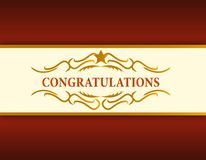 Gold Congratulations card illustration Royalty Free Stock Image