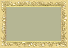 Gold conice for painting or postcard Vintage frame border retro, engraving. Conice for painting or postcard linework Black Conice for painting or postcard Royalty Free Stock Images