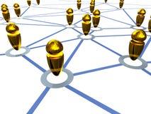 Gold connection job Stock Photos