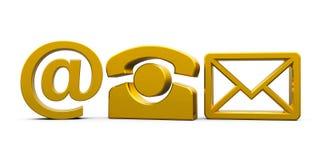 Gold contact symbols  2 Royalty Free Stock Image