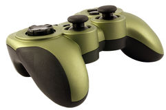 Gold Control Pad Royalty Free Stock Image
