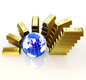 Gold controls of the world concept Stock Photo