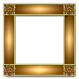 Gold & copper Frame Royalty Free Stock Photography