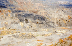 Gold and copper mining. Gold and copper quarry. Mining waste Royalty Free Stock Photo