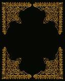Gold Corners Design on Black Stock Photos