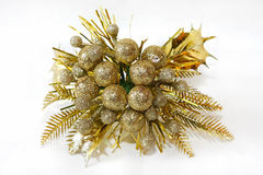 Gold corsage Stock Photography