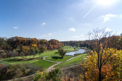 Gold course. Golf course, on the green Royalty Free Stock Photo
