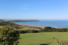 Gold course overlooking woolacombe beach in devon, uk Royalty Free Stock Images