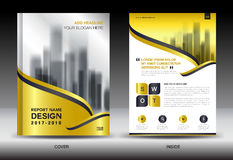 Gold Cover Annual report brochure flyer template creative design vector illustration