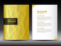 Gold Cover Annual report template Stock Photo