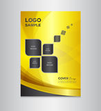 Gold Cover design vector illustration Stock Image