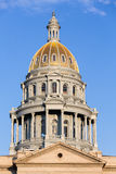 Gold covered dome of State Capitol Denver Royalty Free Stock Images